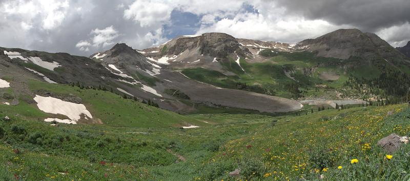 Descending Imogene Pass.