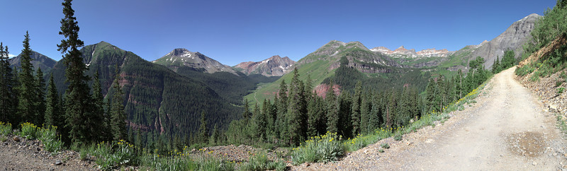 Panorama from the road heading up to Clear Lake.
