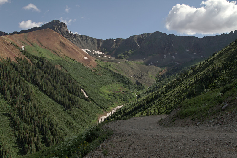 Descending Ophir Pass late in the afternoon.