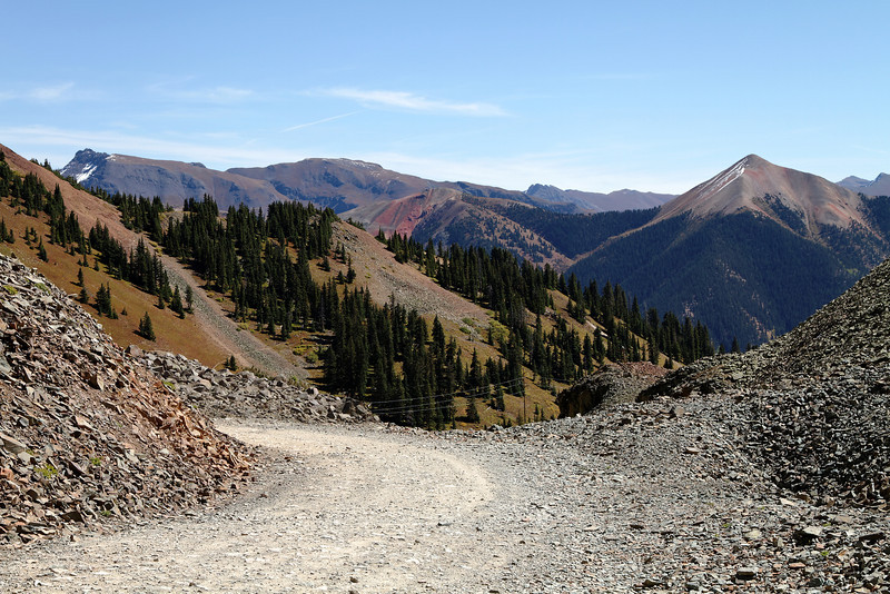 Ophir Pass looking down the Silverton side.
