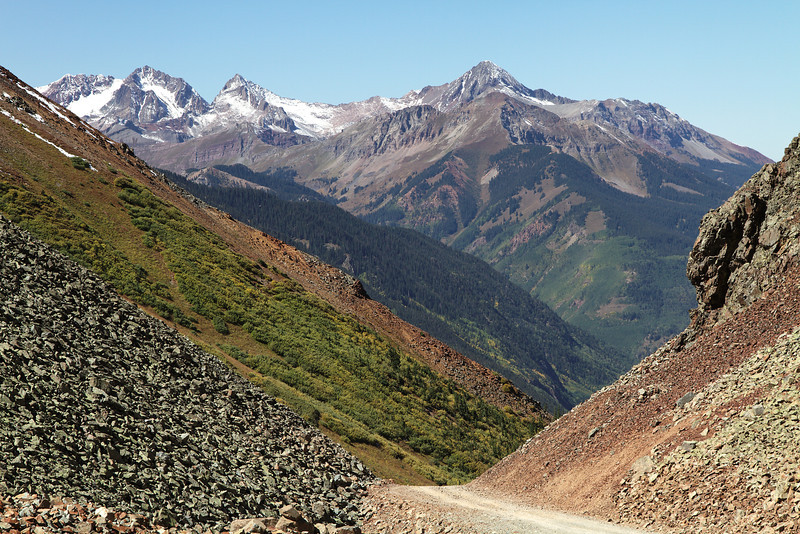 Looking back down towards Ophir from Ophir Pass