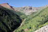 A view heading up Ophir Pass.