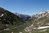 Heading up Engineer Pass looking back towards Animas Forks.