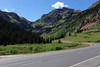View from highway 550 (the million dollar highway) about to head up to Red Mountain Pass.