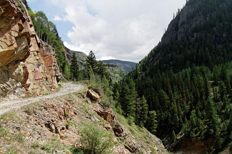 Shelf road along Mineral Creek