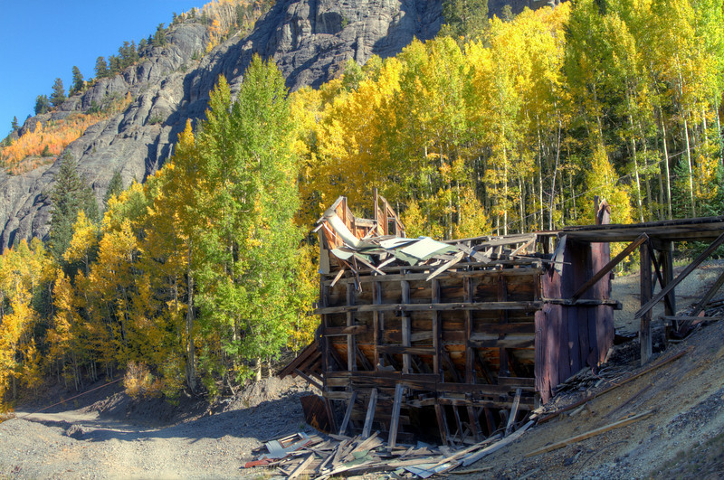 HDR of mining ruins on Mineral Creek