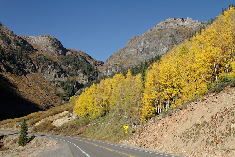 Looking back on 550 right as you start to really climb to Red Mountain Pass