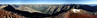 225 degree panorama.  The trail I cam up on is on the right and that's Sunshine peak on the left.