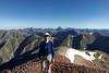 Standing on Redcloud Peak.