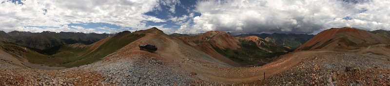 360 degree panorama from the top of Corkscrew.