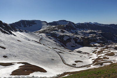 Lake Como is just starting to melt as seen from California Pass.