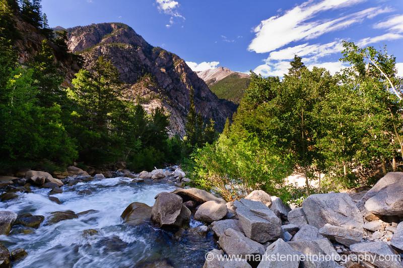 Cascade Falls near Mt Princeton Colorado
