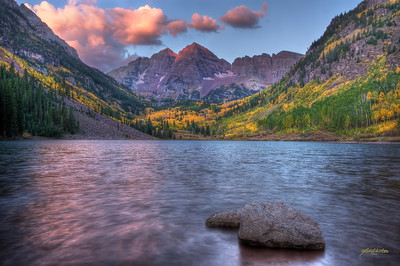 Morning Glow, Maroon Bells, White Falls National Forrest, Aspen, CO