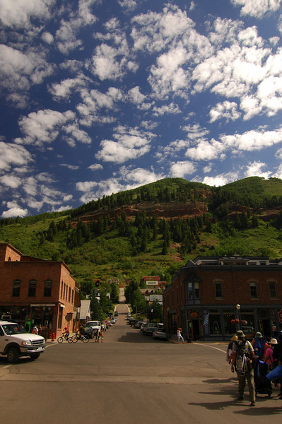 Colorado Ave, Telluride, CO.  June