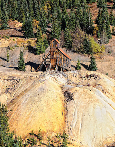 Yankee Girl Mine south of Ouray Colorado