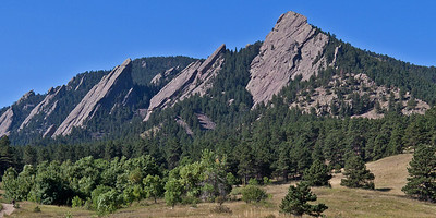 Sunny Day Over the Flatirons II