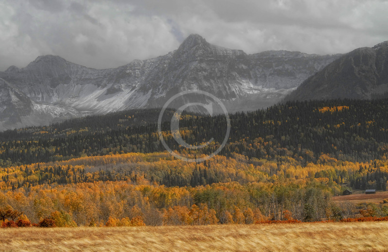 Mt. Sneffels in the fall near Ridgway Colorado