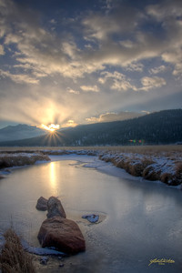 """Emerging Morning"" Moraine Meadow, Rocky Mountain National Park, Estes Park, CO"