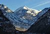 Ouray Colorado and Mt. Abrams in the winter