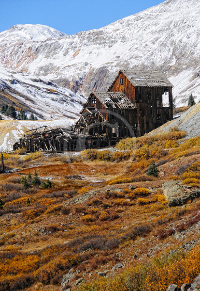 Old mine in the snow -- Colorado