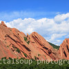Colorado Red Rocks frame by Trees