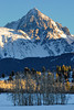 Mt. Sneffels in winter near Ridgway Colorado