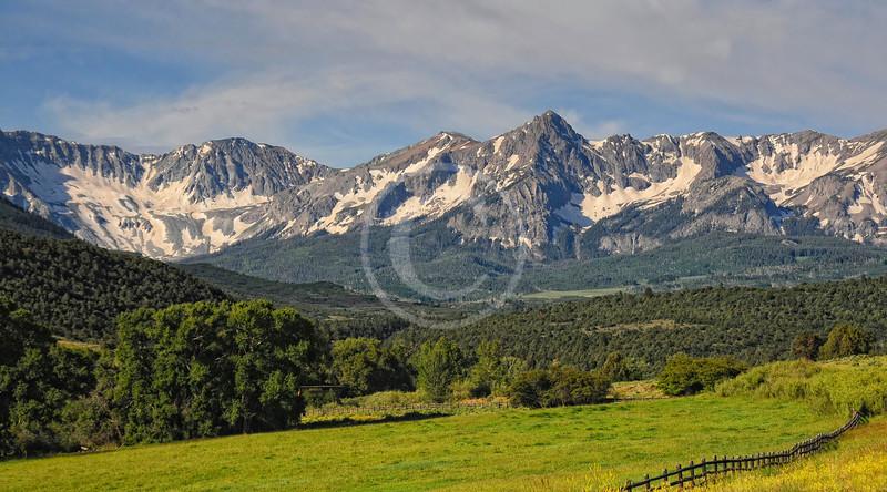 Mt. Sneffles range near Ridgway Colorado