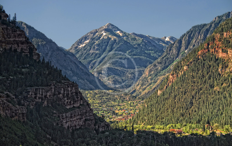 Ouray Colorado and Mt. Abrams in the summer