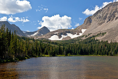 View from Mitchell Lake II - Pawnee Peak, Mt. Toll, Paiute Peak and Mt. Audubon