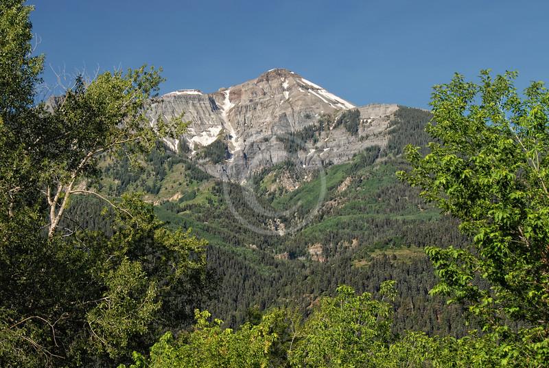 Beautiful Mountain Vista near Ouray Colorado