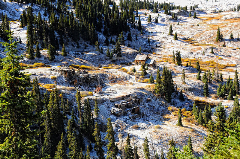 Old Mine and Cabin -- Engineer Pass Colorado