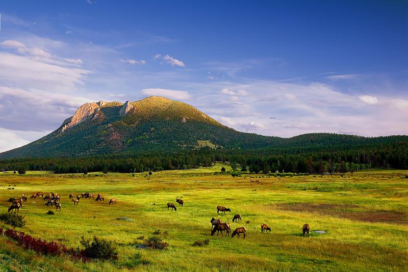 Colorado, Rocky Mountain National Park, Sunset, Landscape 科罗拉多 落矶山国家公园 秋色, 风景