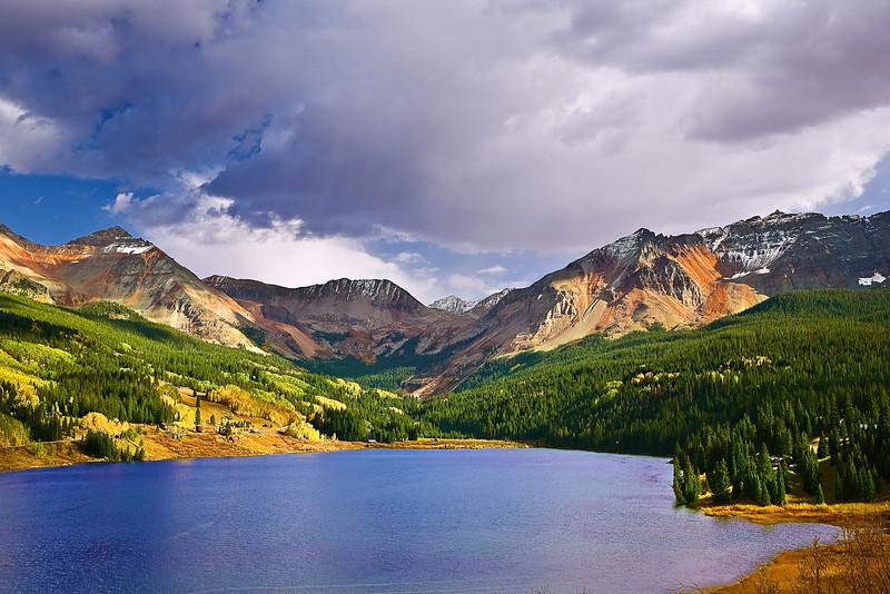 Colorado, Rocky Mountains, San Juan Mountain, Trout Lake,Landscape, 科罗拉多 洛矶山 秋色, 风景