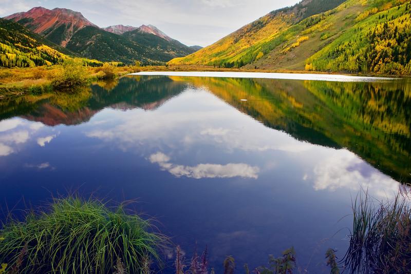 Colorado Rocky, San Juan Mountain, Reflection, Ouray, Landscape, 科罗拉多 洛矶山 秋色, 风景