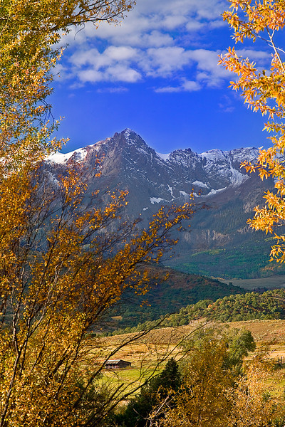 Colorado, Mountain Sneffels, Rocky, San Juan Mountain, Fall colors, Foliage, Landscape, 科罗拉多 洛矶山 秋色, 风景