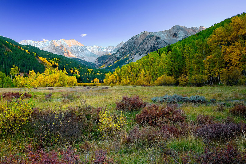 Colorado, Rocky, Mountains, Castle, Peak, Fall, Foliage, Sunset, Landscape, 科罗拉多 洛矶山 秋色, 风景