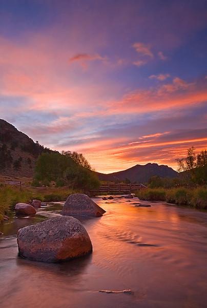 Colorado, Rocky Mountain National Park, Moraine Park, Sunrise,Landscape, 科罗拉多 落矶山国家公园 秋色, 风景