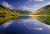Colorado Rocky, San Juan Mountain, Reflection, Ouray, Landscape, 科罗拉多 洛矶山 秋色, 风景