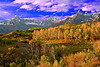 Colorado, Mountain Sneffels, Rocky, San Juan Mountain, Sunrise, Fall colors, Foliage, Landscape, 科罗拉多 洛矶山 秋色, 风景