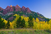 Colorado, Rocky Mountains, Maroon Bell, Lake, Sunrise Fall Color, Foliage, Landscape, 科罗拉多 洛矶山 秋色, 风景