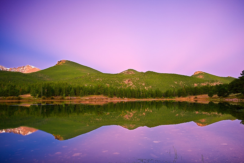 Colorado, Rocky Mountain National Park, Lily Lake, Sunrise, Landscape, 科罗拉多 落矶山国家公园 秋色, 风景
