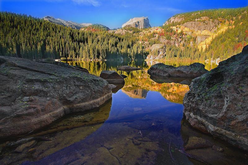 Colorado, Rocky Mountain National Park, Bear Lake, Landscape, 科罗拉多 落矶山国家公园 秋色, 风景
