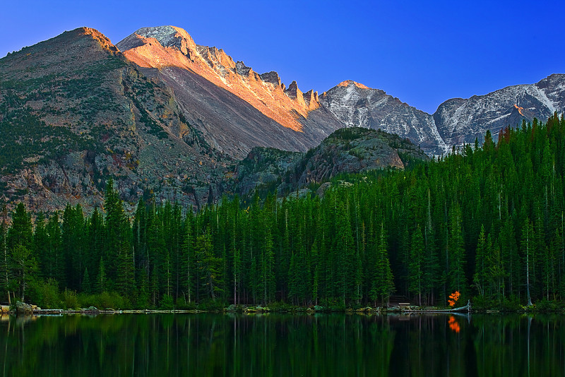 Colorado, Rocky Mountain National Park, Bear Lake, Sunset, Landscape, 科罗拉多 落矶山国家公园 秋色, 风景
