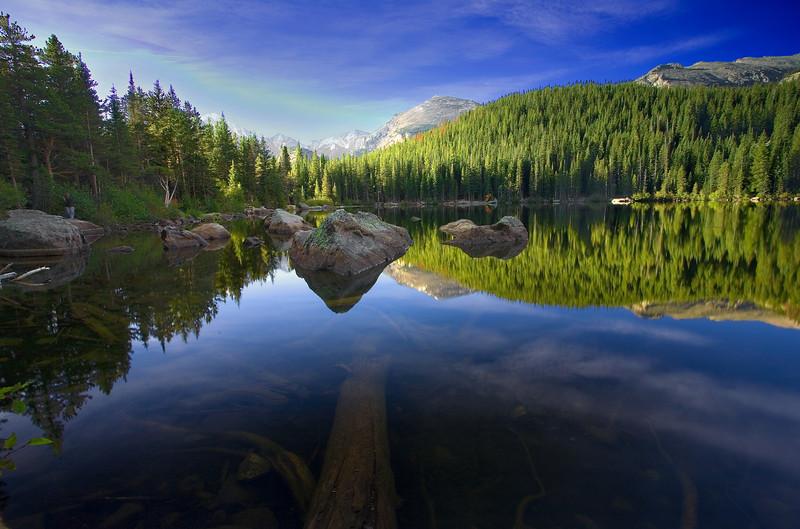 Colorado, Rocky Mountain National Park, Bear Lake, Sunset, Landscape, 科罗拉多 落矶山国家公园 秋色, 风景
