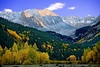 Colorado Rocky Mountains, Castle Peak, Fall Foliage, Sunset,  Landscape, 科罗拉多 洛矶山 秋色, 风景