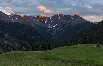 Light Speed. Sunset over Velocity Basin near Silverton, Colorado