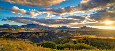 Sunset over the Telluride Valley
