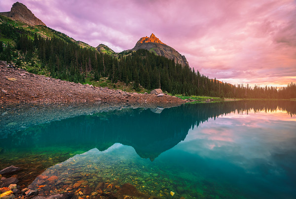 Lower Blue Lake Colorful Sunrise