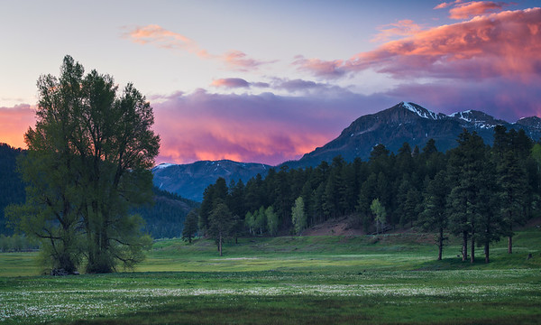 Pink Hues of a Pagosa Springs Sunset