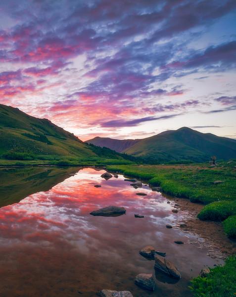 Reflective Herman Gulch Sunrise